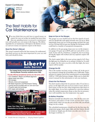 Page 4 of Expert Contributor: The Best Habits for Car Maintenance