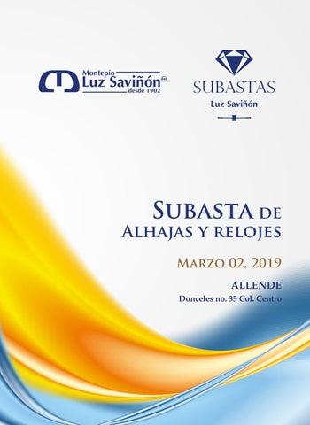 9dbfe03ac671 Subasta 02 de Marzo 2019 Allende by Montepío Luz Saviñón IAP - issuu