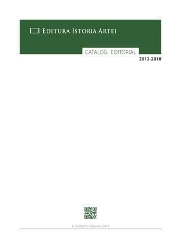 Catalog Editura Istoria Artei By Oana Marinache Issuu