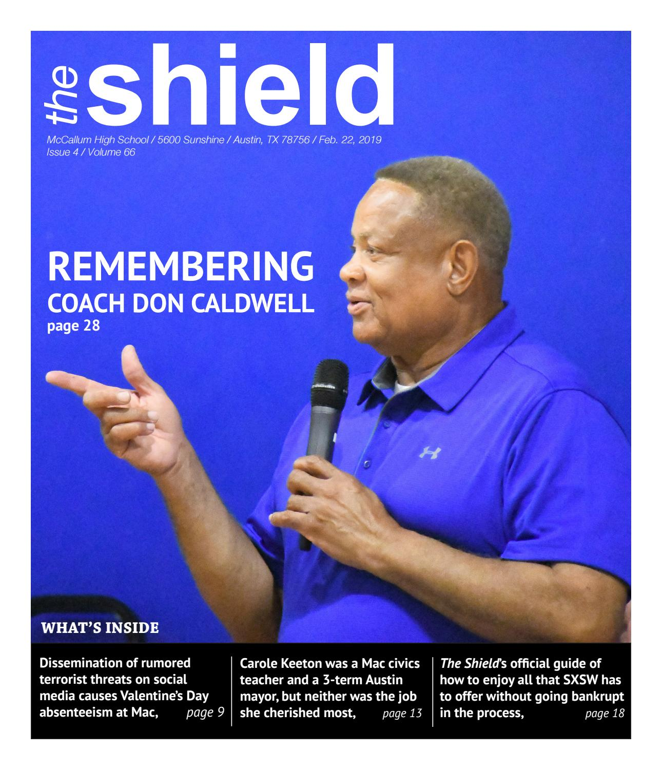 The McCallum HS Shield, Volume 66, Issue 5, Feb  22, 2019 by