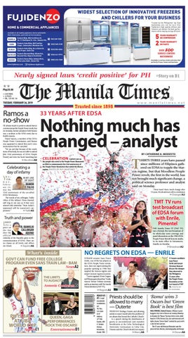 THE MANILA TIMES | FEBRUARY 26, 2019 by The Manila Times - issuu