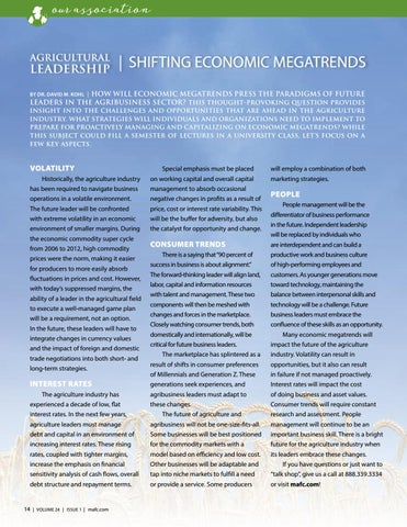 Page 14 of Agricultural Leadership: Shifting Economic Megatrends