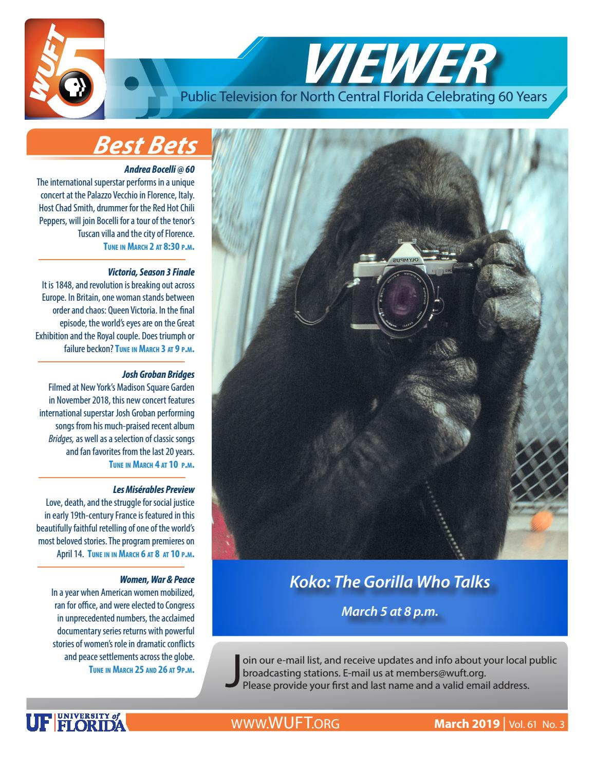 WUFT TV Viewer Guide - March 2019 by UF CJC - issuu
