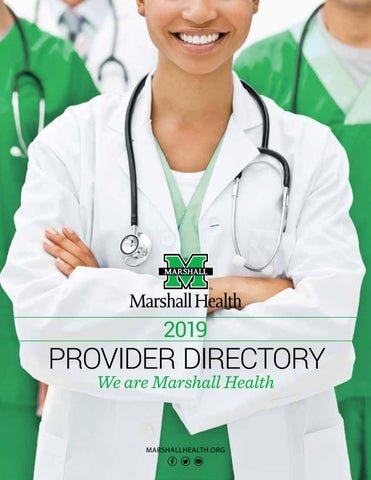 2019 Marshall Health Provider Directory by Marshall Health