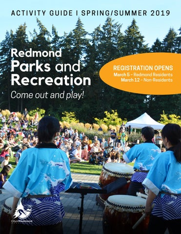 Redmond Activity Guide - Spring/Summer 2019 by City of