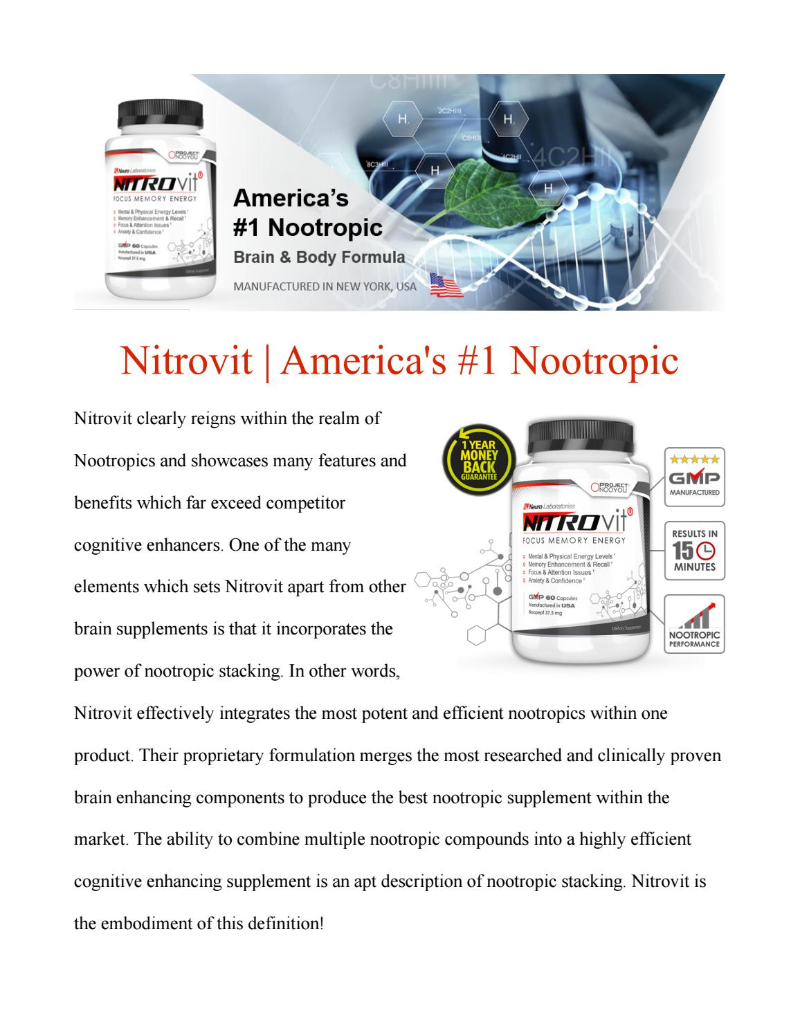Sante Cognitive Enhancers Supplements Nootro Magazine Www