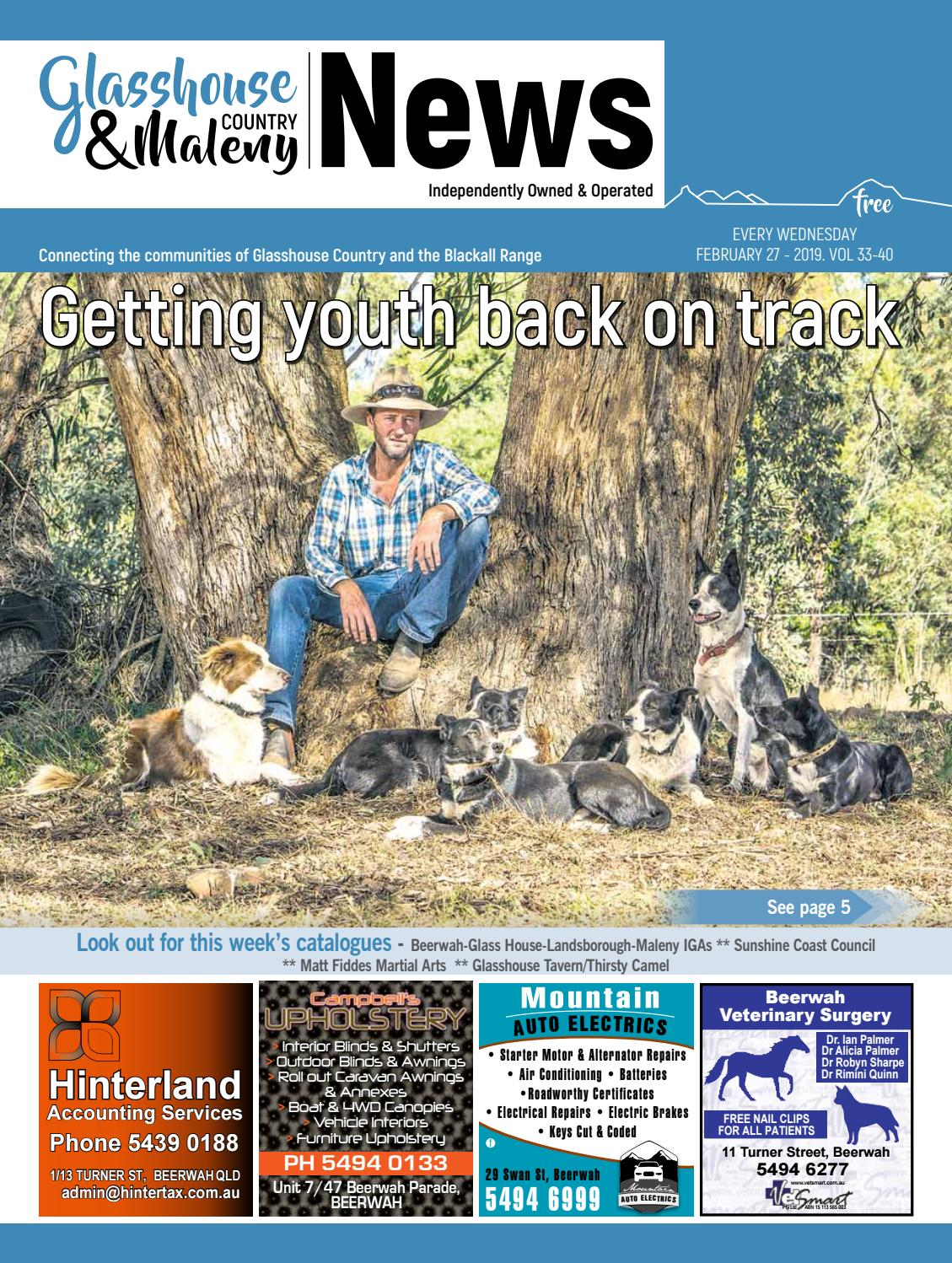Edition 27 February 2019 By Glasshouse Country Maleny News