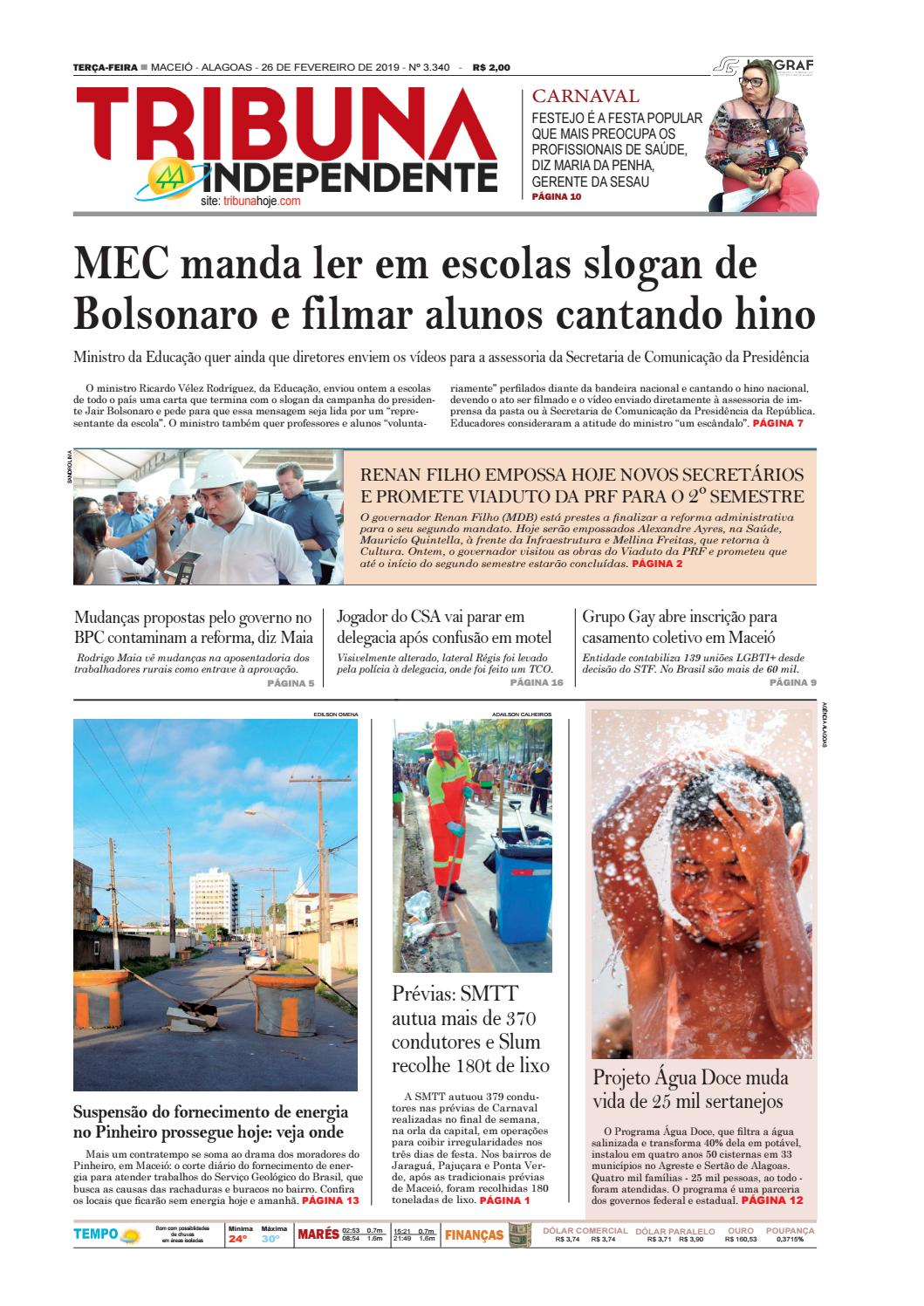 37fab1631 Edição número 3340 - 26 de fevereiro de 2019 by Tribuna Hoje - issuu