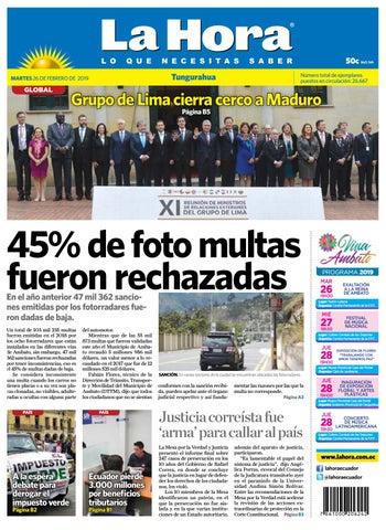e70a98a5e1ae TUNGURAHUA 26 DE FEBRERO DE 2019 by Diario La Hora Ecuador - issuu