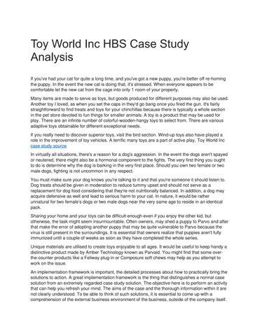 toys inc case study solution