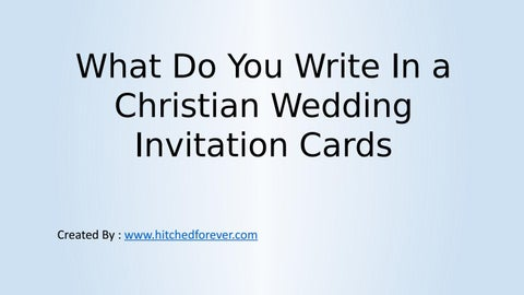Stupendous What Do You Write In A Christian Wedding Invitation Cards By Personalised Birthday Cards Paralily Jamesorg