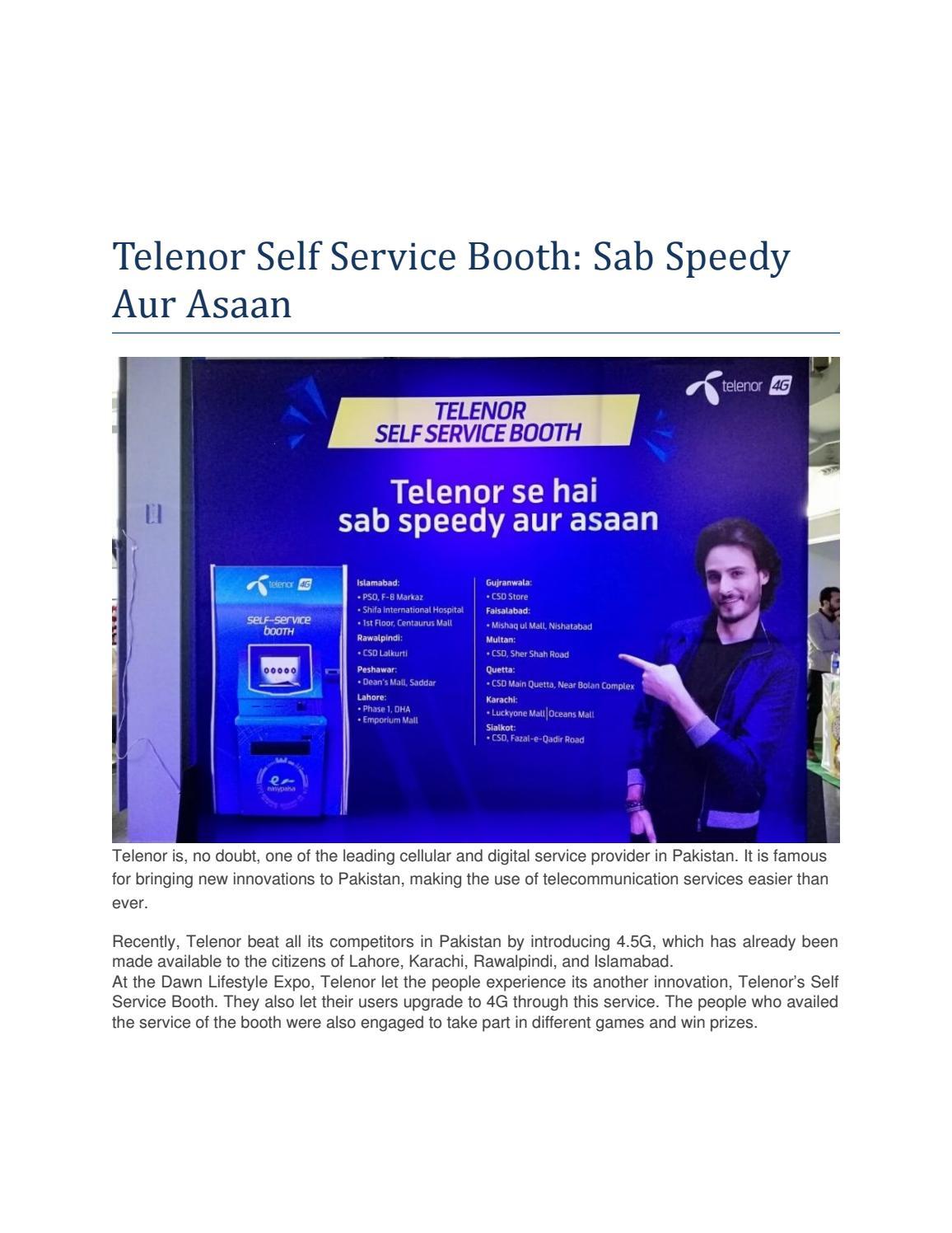 Telenor Self Service Booth: Sab Speedy Aur Asaan by