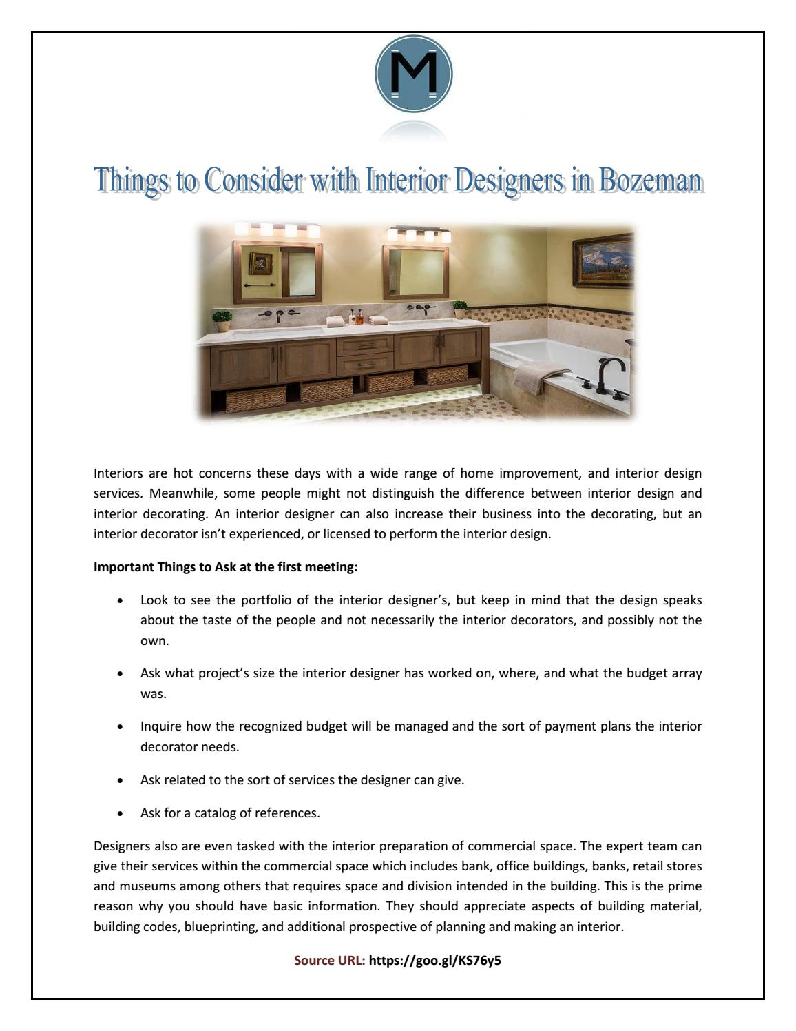 Things To Consider With Interior Designers In Bozeman By Sophia James Issuu
