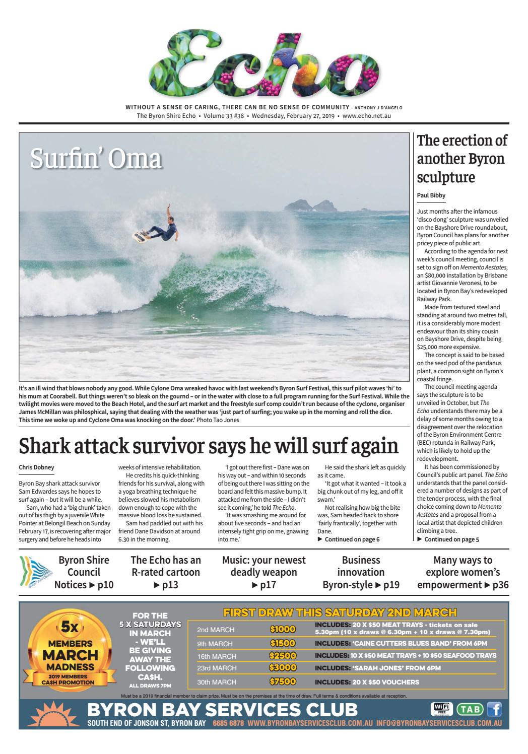 The Byron Shire Echo – Issue 33 38 – February 27, 2019 by