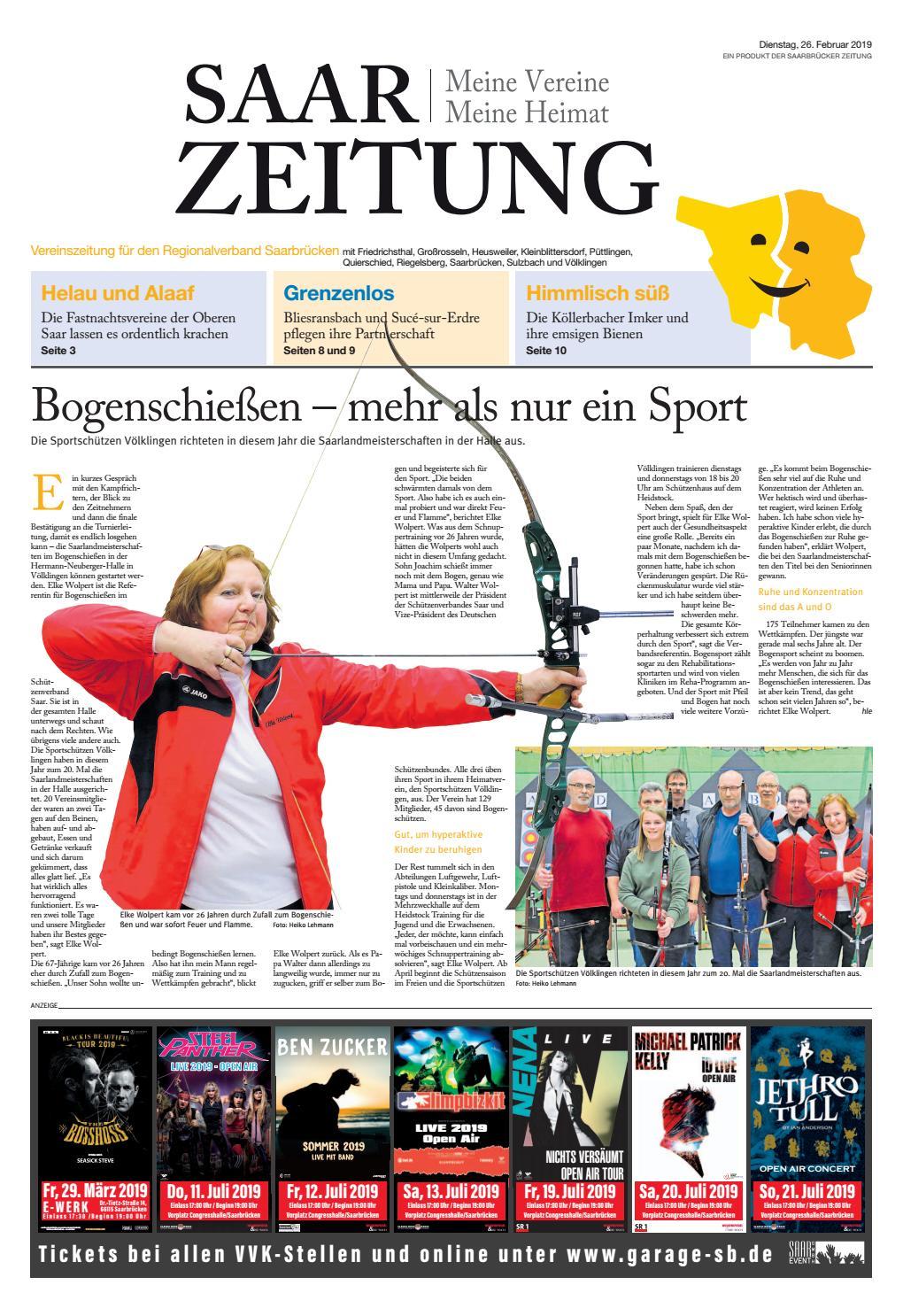 SaarZeitung 26.02.2019 Ausgabe Regionalverband Saarbrücken