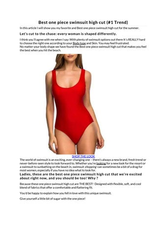 7a489538cfc Best one piece swimsuit high cut (#1 Trend) In this article I will show you  my favorite and Best one piece swimsuit high cut for the summer.