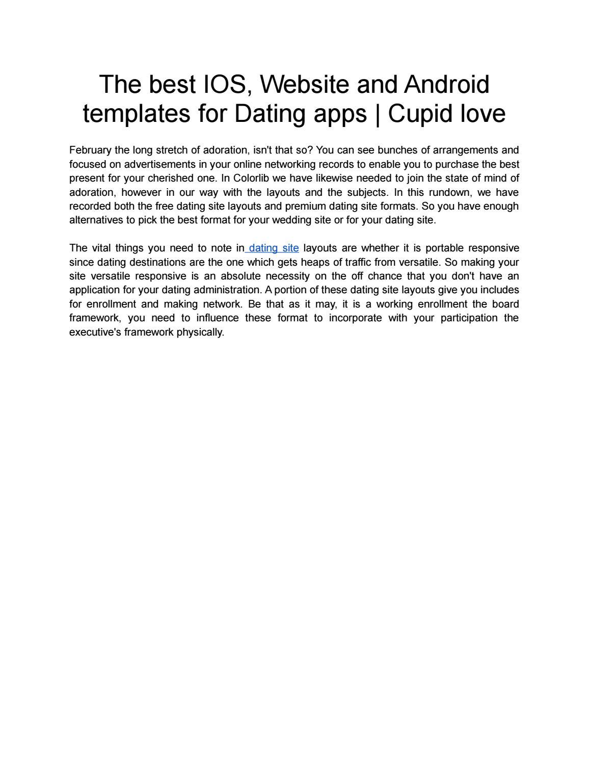 dating website applikationer