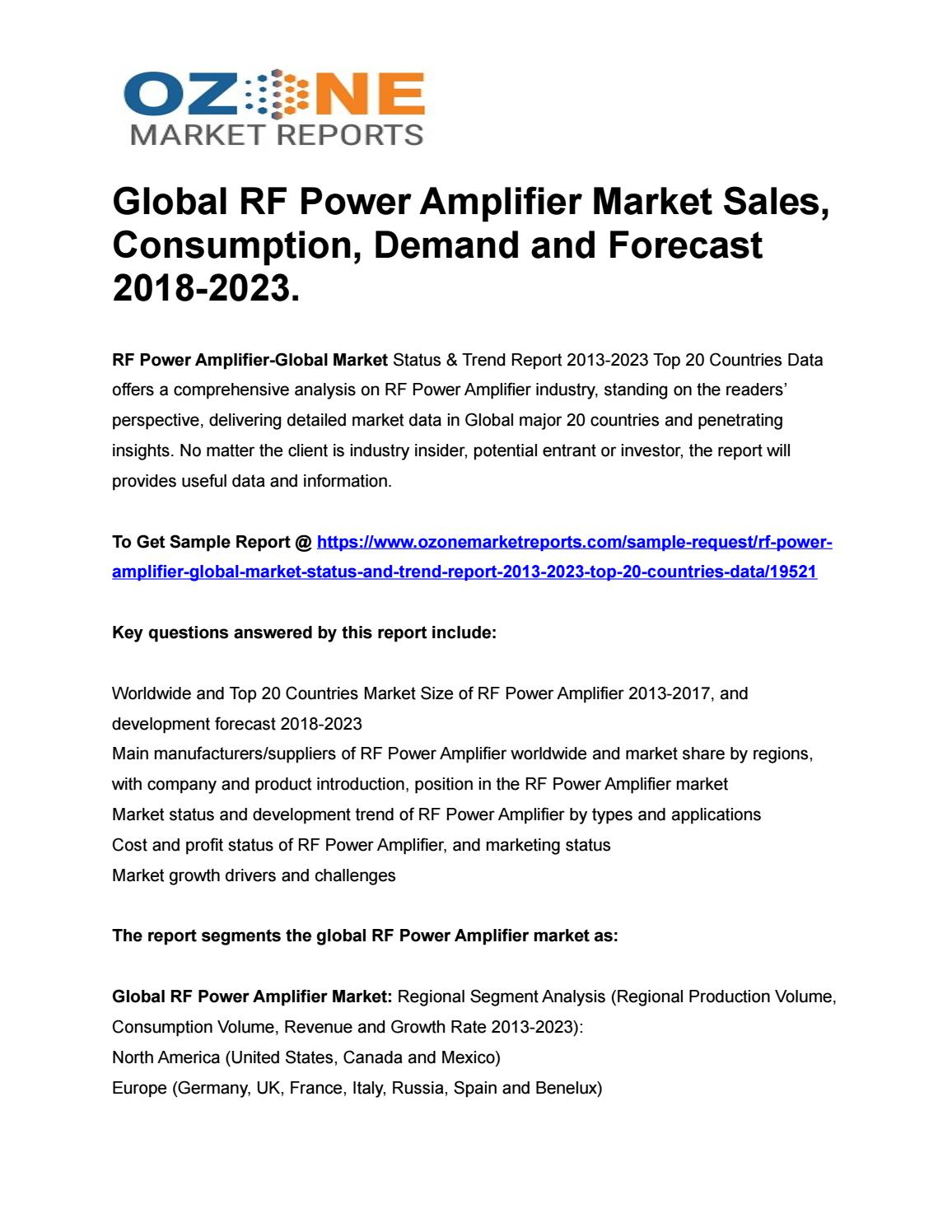By Photo Congress || Rf Power Amplifier Suppliers