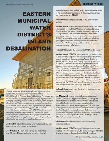 Page 33 of EASTERN MUNICIPAL WATER DISTRICT'S INLAND DESALINATION