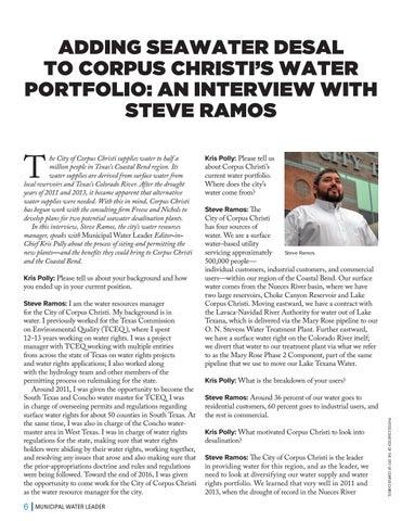 Page 6 of ADDING SEAWATER DESAL TO CORPUS CHRISTI'S WATER PORTFOLIO