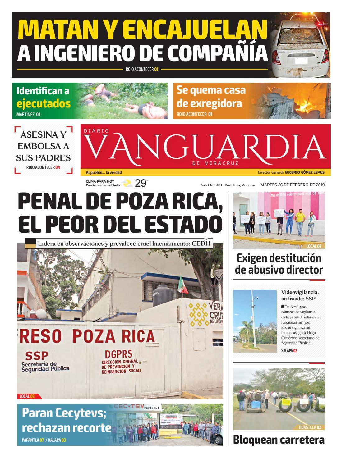 ad6982a0 Diario Vanguardia Veracruz 26 de febrero 2019 by Vanguardia Veracruz - issuu