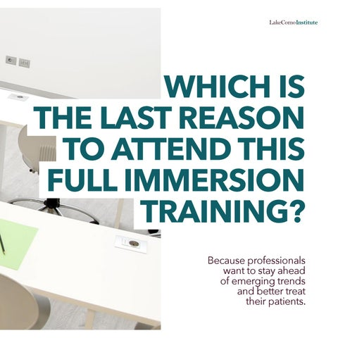 Page 19 of Which is the last reason to attend this full immersion training?