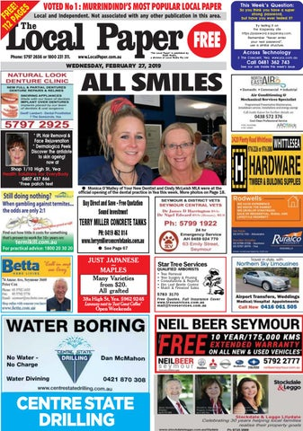 ad2ef6cf494 S VOTED No 1  MURRINDINDI S MOST POPULAR LOCAL PAPER E E GE Local and  Independent. Not associated with any other publication in this area. R F PA  112 The
