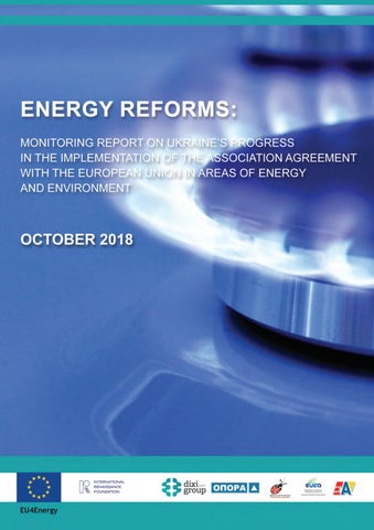 Energy Reforms: October 2018 review by Ukrainian Energy - issuu