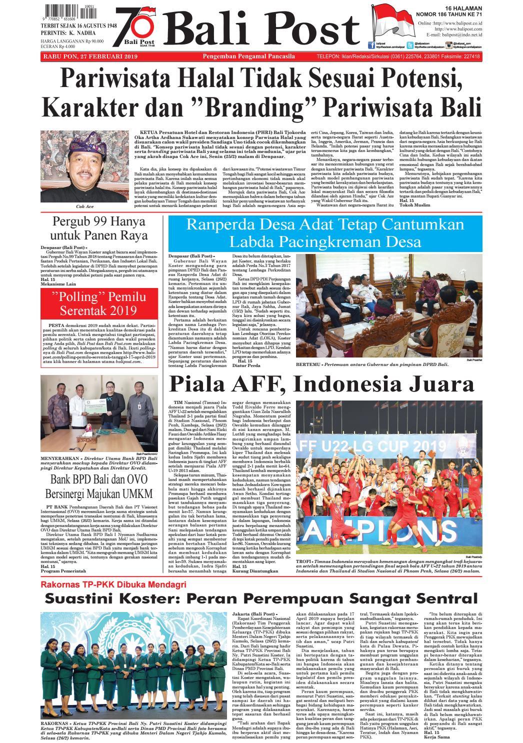 Edisi rabu 27 februari 2019 balipost com by e paper kmb issuu