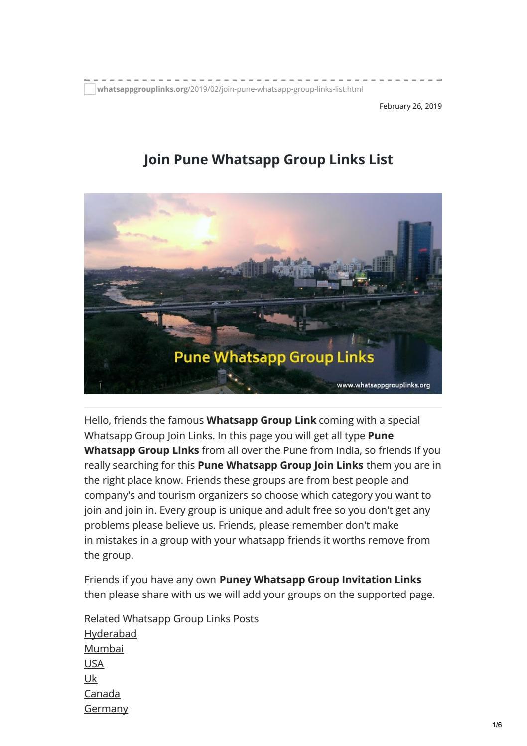 pune whatsapp group links by whatsapp group links - issuu
