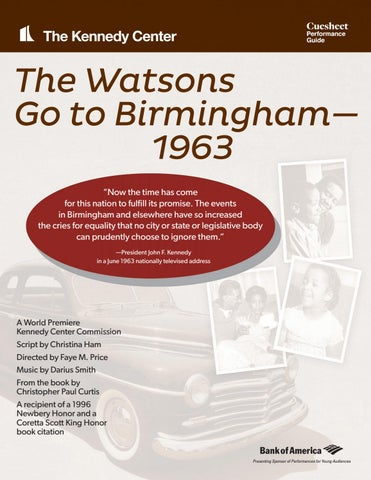 The Watsons Go To Birmingham 1963 By Kennedy Center Education