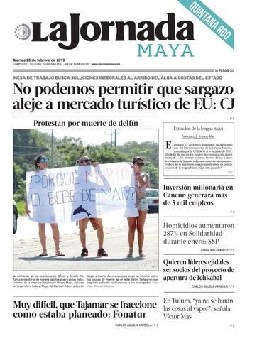 90b447fccd La Jornada Maya · martes 26 de febrero de 2019 by La Jornada Maya ...