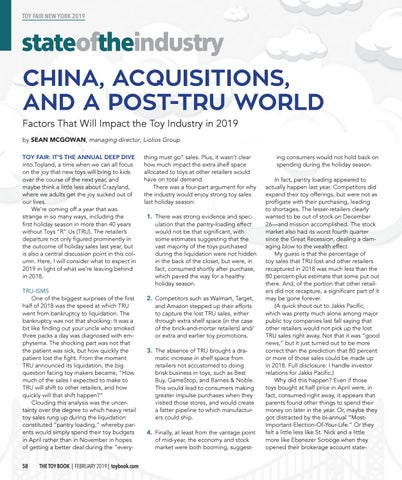 Page 58 of China, Acquisitions, and a Post-TRU World