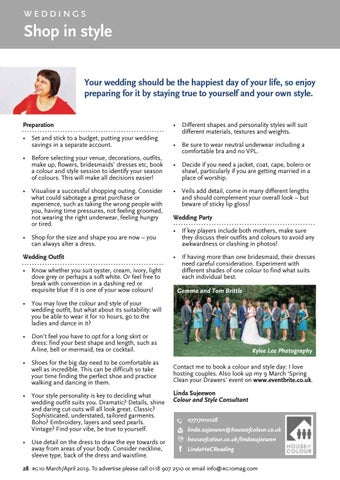Page 28 of Weddings: style, colours and jewellery