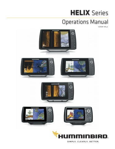 Humminbird Helix product manual 2109 (ENG) by Normark Suomi - issuu