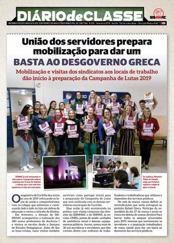 Diário de Classe - Fevereiro de 2019 by Sismmac Sindicato - issuu 4a5696a7ec70
