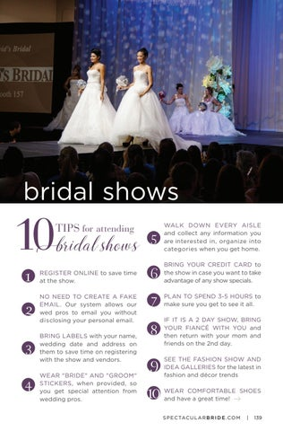 Page 141 of 10 Tips for attending bridal shows