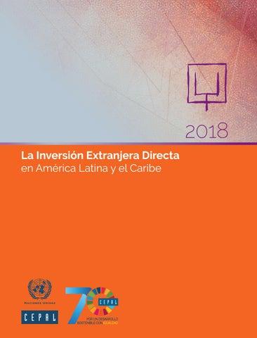 8c69f2a468db La Inversión Extranjera Directa en América Latina y el Caribe 2018 ...