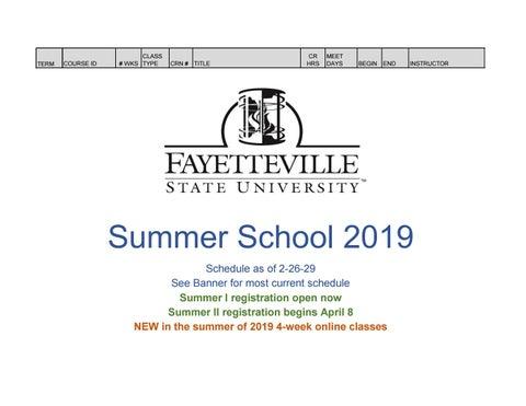 Summer Begins 2020.Fsu Summer School 2020 Schedule As Of 2 26 19 By Fsu