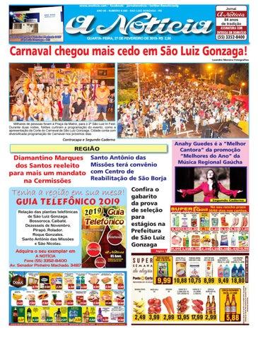 88fba74028a9 www.anoticia.com / facebook: jornalanoticia / twitter:@anoticiaslg ANO 85 -  NĂšMERO 8.088 - SĂƒO LUIZ GONZAGA - RS