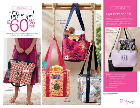 Thirty One Gifts May Customer Specials 2019 By