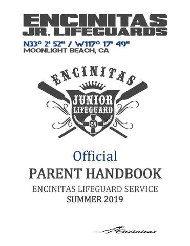 32ba96c0e1b3 Encinitas Junior Lifeguard Parent Handbook 2019 by Encinitas Parks ...