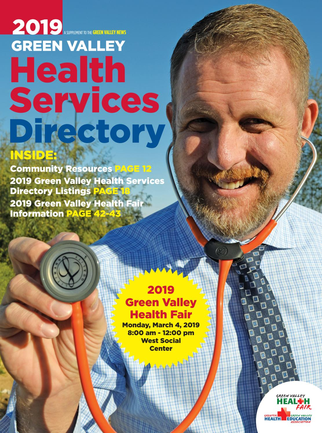 Green Valley Health Services Directory 2019 By Wick Communications Issuu