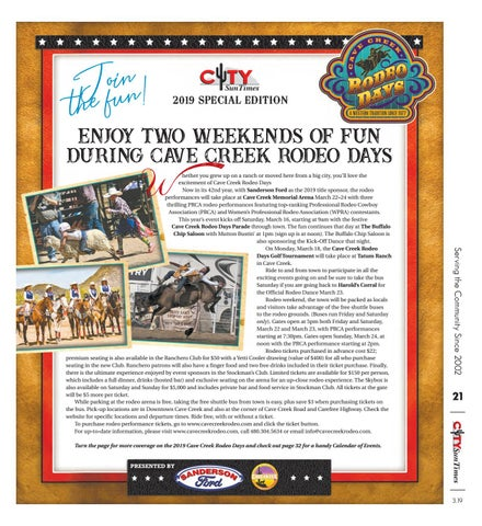 CITYSunTimes 2019 Cave Creek Rodeo Days Special Edition