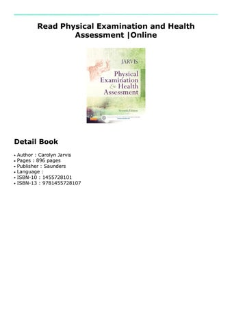Physical Examination and Health Assessment by mail-hub343