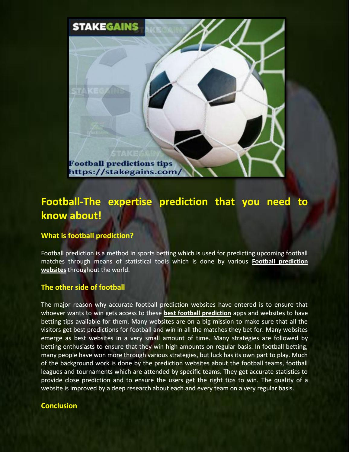 Football prediction site by stakegains1 - issuu