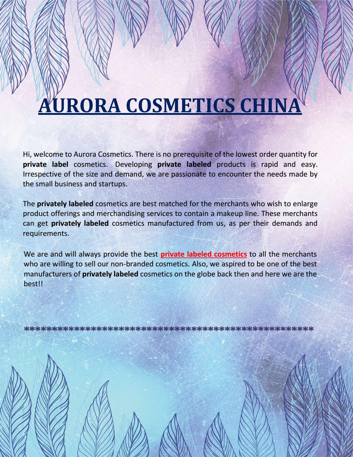 Top Private Label Cosmetics- Aurora Global Brands by