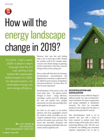 Page 18 of How will the energy landscape change in 2019?