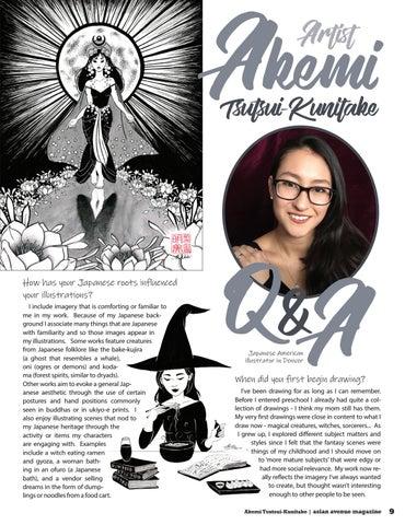Page 9 of Artist Feature: Akemi Tsutsui-Kunitake