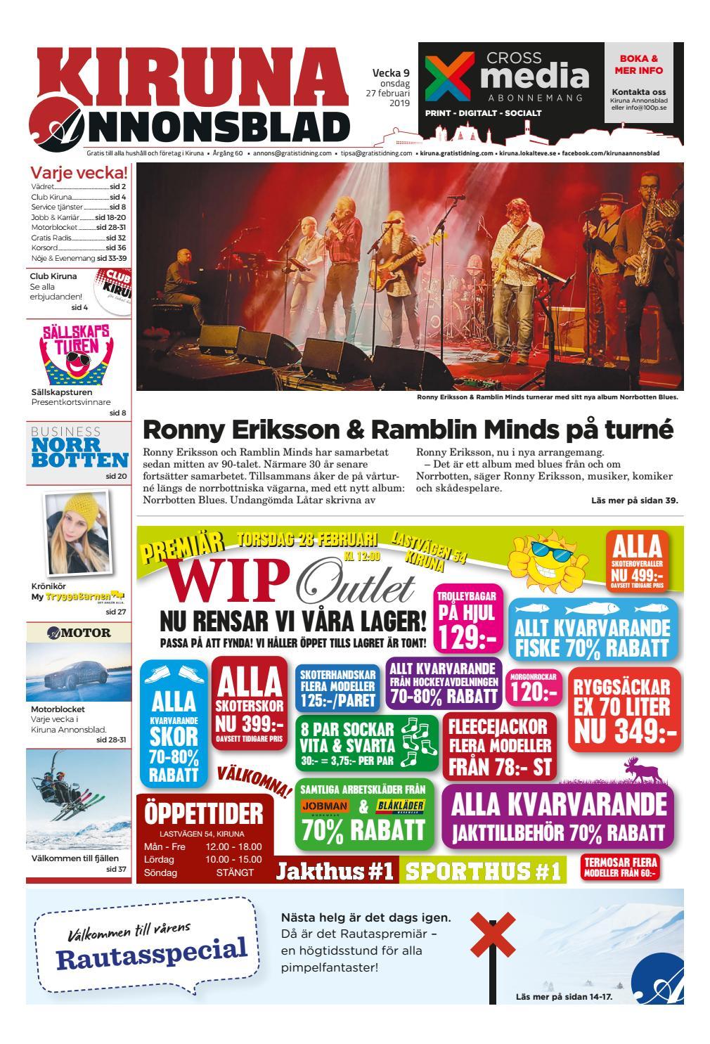 9177918fb2b6 Kiruna Annonsblad vecka 09, 2019 by Svenska Civildatalogerna AB - issuu